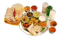 Dieta equilibrada indiana Imagem de Stock Royalty Free