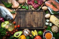 Dieta equilibrata Alimento biologico per nutrizione sana fotografia stock