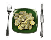 Dieta financeira Imagens de Stock Royalty Free