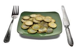 Dieta financiera Fotografía de archivo