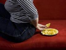 Dieta grassa della donna Fotografie Stock