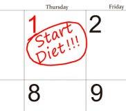 Dieta kalendarz Obrazy Royalty Free
