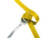 Dieta - mangi meno concetto immagini stock