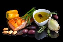 Dieta mediterránea omega-3. Imagen de archivo libre de regalías