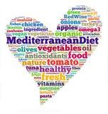 Dieta mediterrânea Imagem de Stock