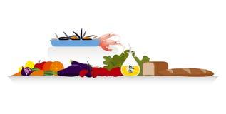 dieta mediterranea Fotografie Stock