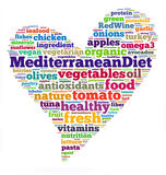 Dieta mediterránea Imagen de archivo