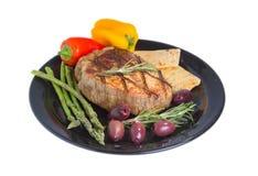 Dieta mediterrânea de Atkins. Imagens de Stock