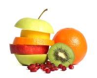Dieta mezclada fresca de la fruta fotografía de archivo libre de regalías