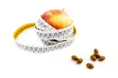 Dieta naturale con le pillole Fotografia Stock