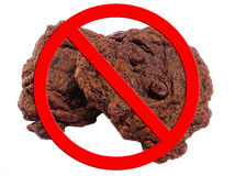 dieta nie ciastko. Zdjęcie Royalty Free