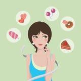 Dieta o alimento Immagini Stock