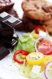 Dieta o no Fotografía de archivo libre de regalías