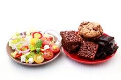 Dieta o no Imágenes de archivo libres de regalías