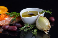 Dieta omega-3 mediterrânea. fotografia de stock
