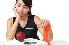 Dieta ou exercício Imagens de Stock