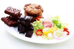 Dieta ou não Fotos de Stock Royalty Free