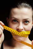 Dieta para la muchacha Imagen de archivo libre de regalías