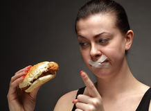 Dieta para a menina Fotografia de Stock