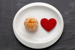 Dieta per il cuore Fotografie Stock Libere da Diritti