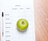 Dieta plan. Obraz Stock