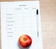 Dieta plan. Obrazy Stock