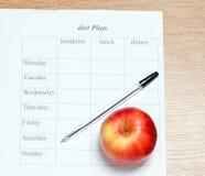 Dieta plan. Zdjęcie Royalty Free