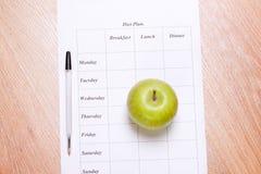 Dieta plan. zdjęcie stock
