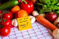 Dieta po wakacji Zdjęcie Stock