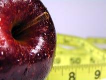 Dieta rossa della mela fotografia stock