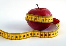 Dieta rossa della mela Immagini Stock
