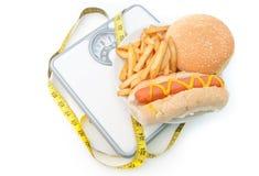 Dieta ruim das escalas de peso Imagem de Stock