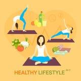 Dieta sana de la vida Imagen de archivo libre de regalías