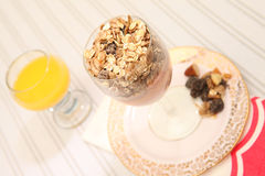 Dieta sana del muesli del yogur del desayuno Fotografía de archivo libre de regalías