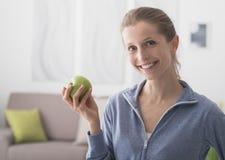 Dieta sana e forma fisica fotografia stock libera da diritti