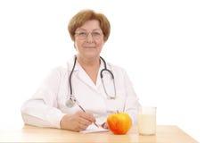 Dieta sana que prescribe Foto de archivo libre de regalías