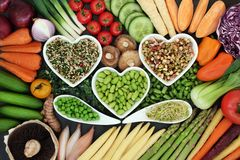 Dieta sana Superfood Fotografia Stock Libera da Diritti