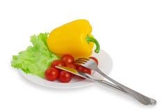 Dieta sana vegetariana, verduras frescas Fotografía de archivo libre de regalías