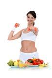 Dieta sana y ejercicio Foto de archivo libre de regalías