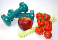 Dieta sana y ejercicio Imagen de archivo