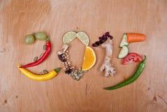 Dieta 2015 saudável Imagem de Stock Royalty Free
