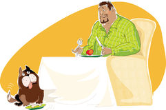 Dieta saudável ilustração do vetor