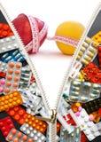 Dieta senza pillole Fotografie Stock Libere da Diritti