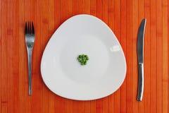 Dieta talerz grochy Obrazy Stock