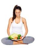 Dieta vegetariana Imágenes de archivo libres de regalías