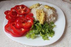 Dieta vegetariana de la cena Foto de archivo