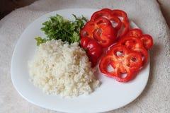 Dieta vegetariana de la cena Imagen de archivo libre de regalías