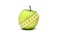 Dieta verde de Apple Fotografia de Stock