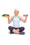 Dieta y ejercicio Imágenes de archivo libres de regalías