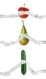 Dieta y medidas Imagenes de archivo